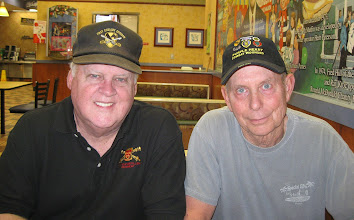 Photo: Mike Maynard of A/1/77 (L) and Scott Thompson of A/1/5 Cav (R) at meeting in TLH FL on March 7, 2012.