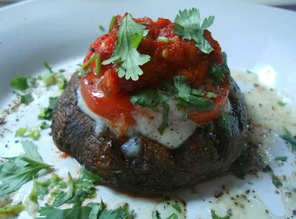 Grilled Portabello And Tomato Snacks