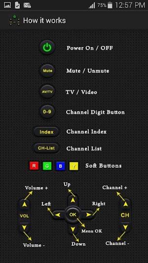 2 Universal TV Remote Control App screenshot