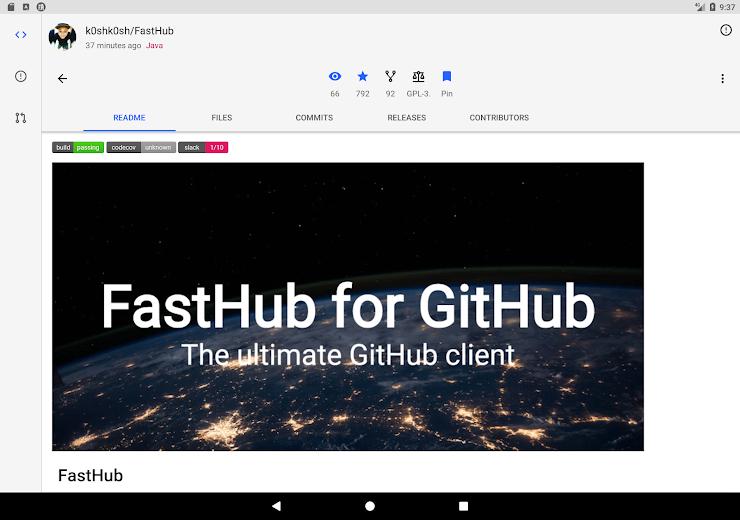 Screenshot 11 for Github's Android app'