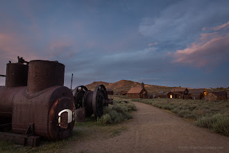 Photo: Sunset yields to blue hour in Bodie