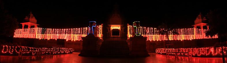 Photo: Temple on the night of Janmashtami