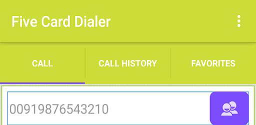 Five Card Dialer - Apps on Google Play