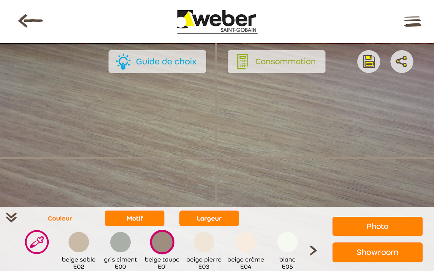 Webercolor- screenshot