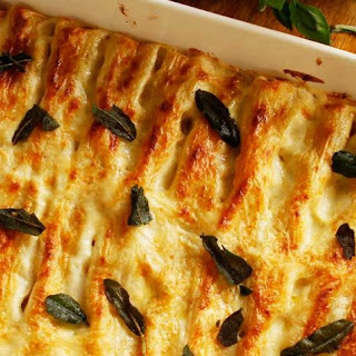 Chicken Cannelloni with Pancetta.
