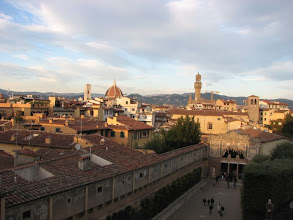 Photo: A final shot of Florence from the Pitti Palace. The south end of the Medici walkway is in lower left.