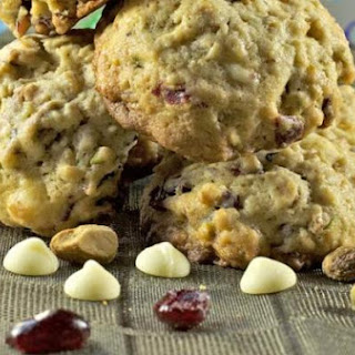 Oatmeal Cranberry Cookies with White Chocolate & Pistachios
