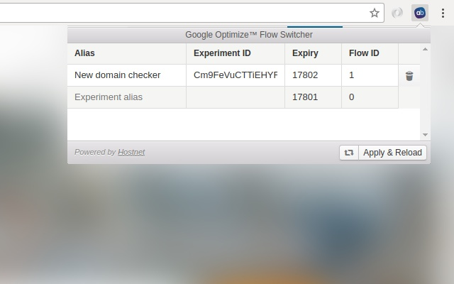 Google Optimize A/B variant switcher