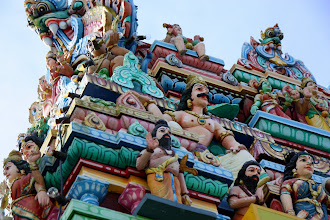 Photo: Year 2 Day 109 - The Roof of the Thirumurugan Temple on the Top of Penang Hill
