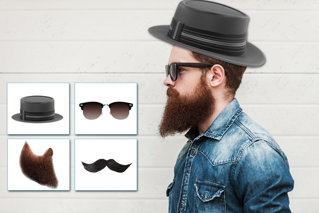 man style makeup - hair & beard photo editor - android apps on