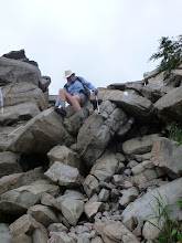Photo: Scaling the rocks down to Lehigh River near Palmerton PA.