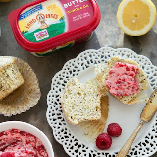 Poppy Seed Muffins with Raspberry Butter