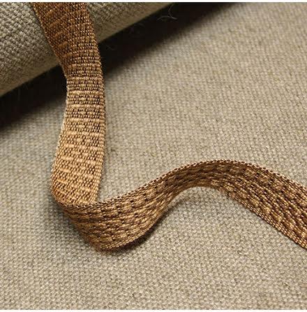 Möbelband Bomull - brun