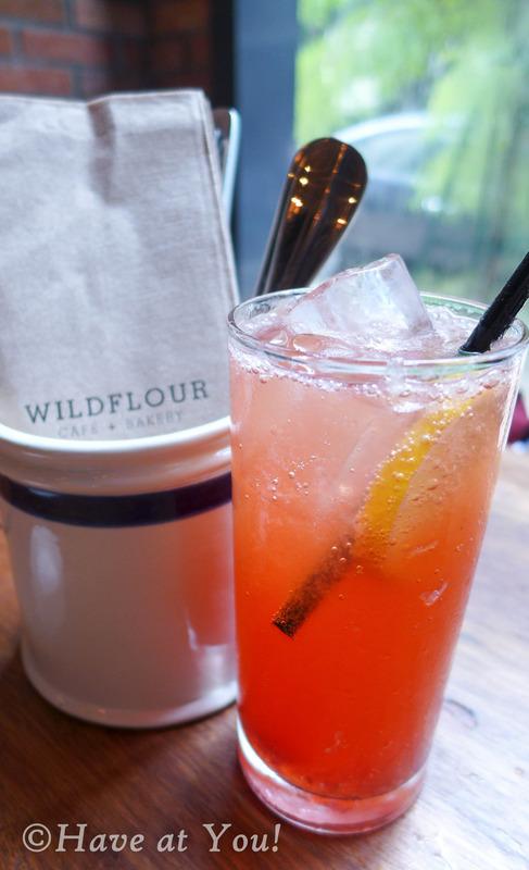 Strawberry lemon soda