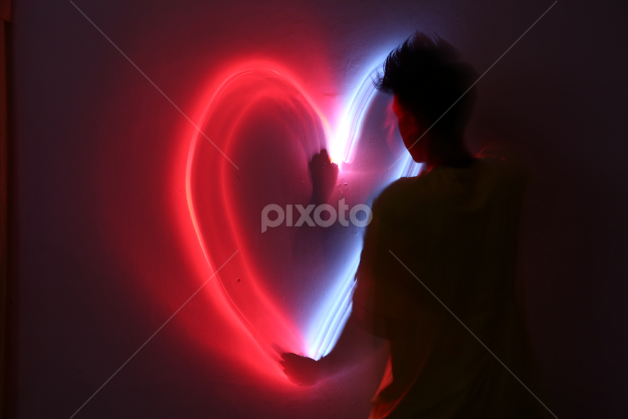 The Light of Love by Adi Krishna - Abstract Light Painting