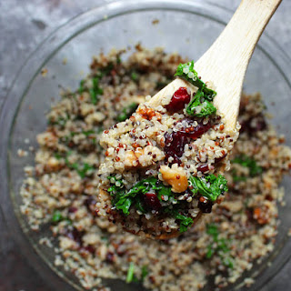 Kale and Cranberry Quinoa Salad with Walnuts and Apple Sage Salad Dressing Recipe