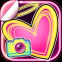 Selfie Camera Neon Stickers icon