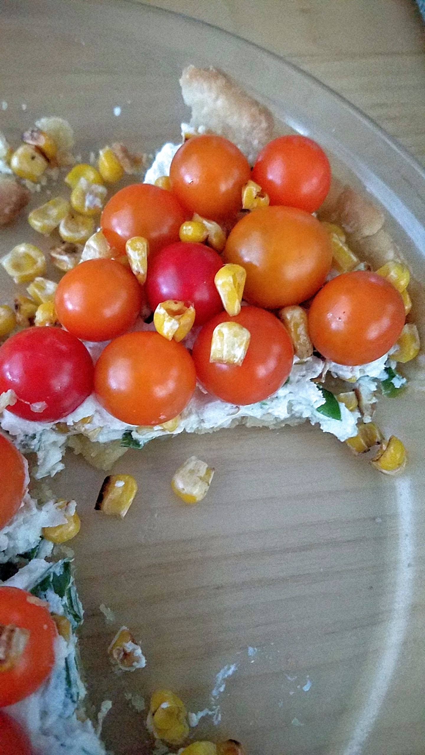 Tomato Pie Recipe with Fresh Cheeses and Uncooked Cherry Tomatoes and (optionally) seared corn to really celebrate the flavors of freshness