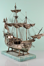 """Photo: Maker: Buccellati Italy  Item: Columbus Ship   Sterling Silver Details:   19"""" Long by 15 1/2"""" Tall  Weight Unknown  Outstanding Estate Condition  One of a kind, Originally sold in the 1990's for $28,000  Marked Gianmaria Buccellati Italy 925"""