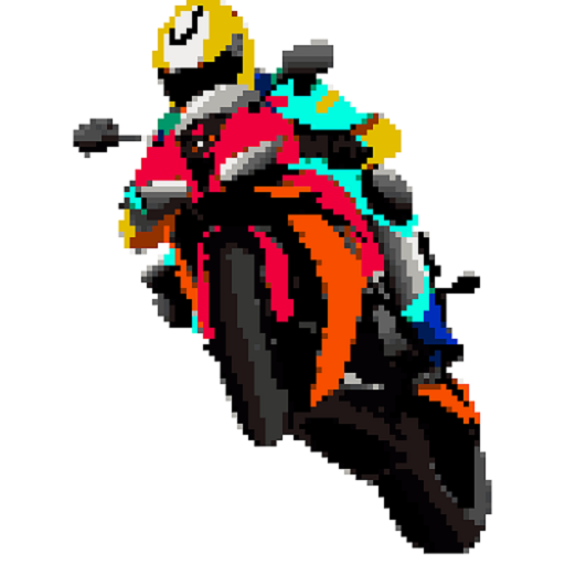 Bikes Color by Number: Pixel Art, Sandbox Coloring Icon