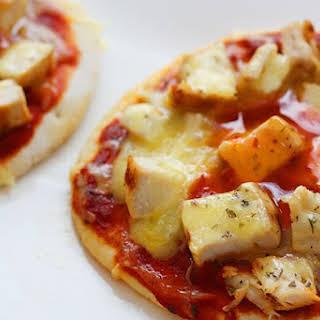 Mini Chicken and Cheese Pizza.