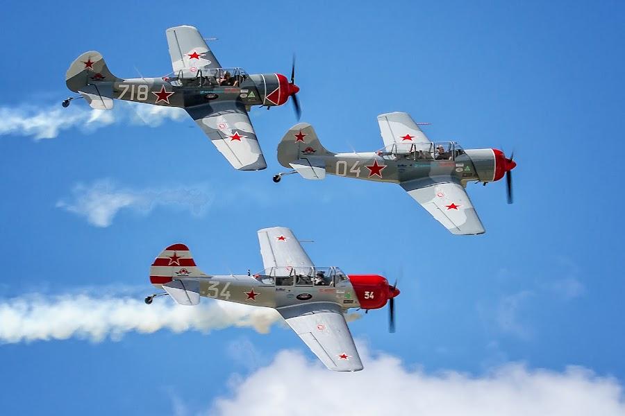 Team Aerostar by Ron Meyers - Transportation Airplanes