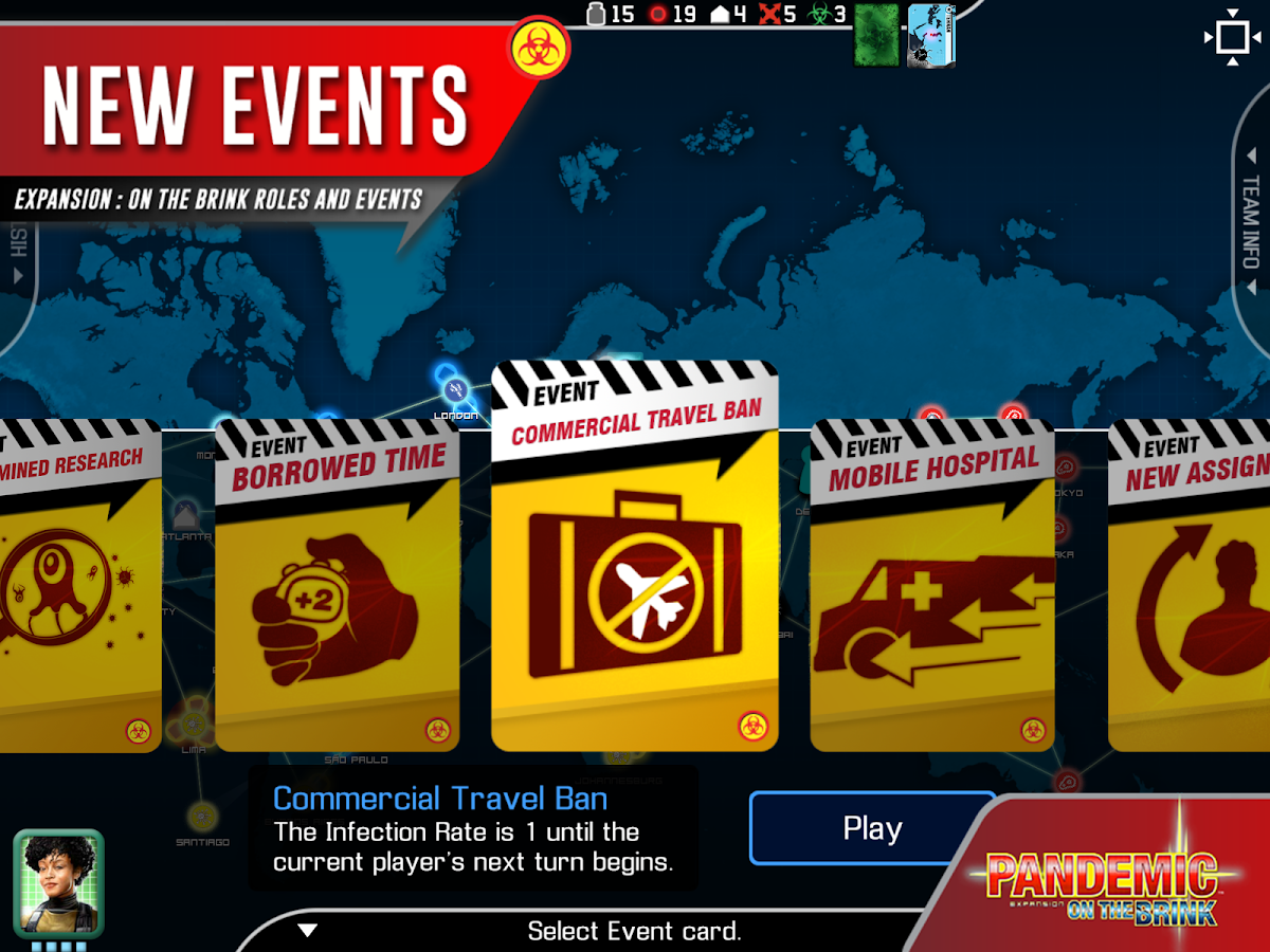 Mobile game commercial - Pandemic The Board Game Screenshot