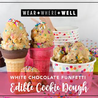 White Chocolate Funfetti Edible Cookie Dough.