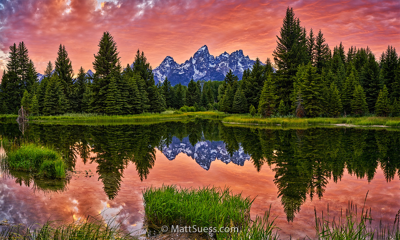 Schwabachers Landing Grand Teton National Park Sunset