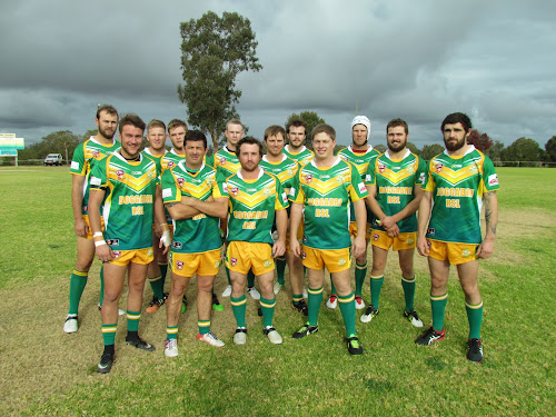 The Boggabri run-on side who downed Wee Waa 84-12 on Saturday at Jubileee Oval, front, Chris Rolinson, Brad Harris, Nick Degroot, Kyle Northy, Boyd Campbell, back, Beau Dawson, Aaron Hobden, Jayde Campbell, Hayden Jeager, Kyle Newcome, Blake McIllveen, Jay Urquhart, Jack Gillham.