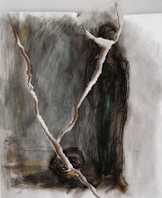 """Photo: Torn, Brenda Clews, 2012, 11"""" x 15"""", charcoal and watercolour on archival paper."""