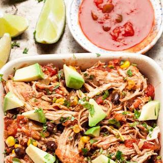 Easy Slow Cooker Salsa Chicken