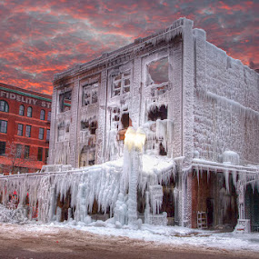 Frozen by Ken Smith - Buildings & Architecture Other Exteriors ( omaha, ice, fire, ms pub )
