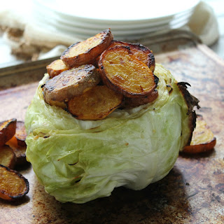 Roasted Cabbage and Golden Beet Pot O'Gold.