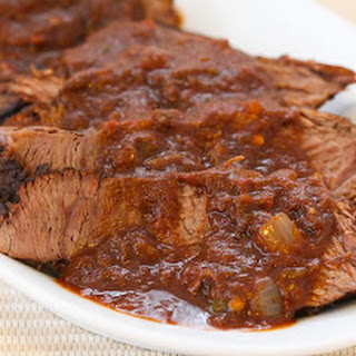 Southwestern Pot Roast Cooked in the CrockPot.