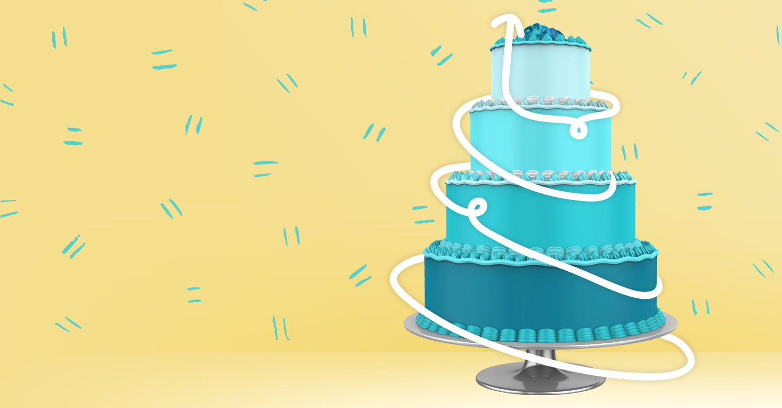 Tiered cake example for how to build a sales funnel
