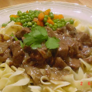 Beef Tips and Noodles.