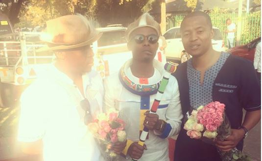Soccer player George Maluleka shared a very touching tribute for his late friend Dumi Masilela.