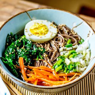 Easy Homemade Soba Noodle Ramen.