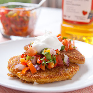 Corn and Green Chile Griddle Cakes