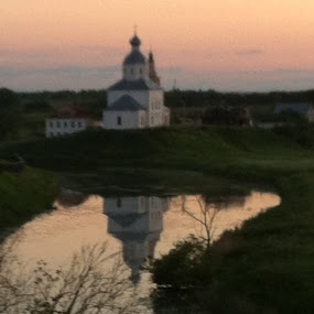 Suzdal , Russian fields by Mylene Rizzo - Landscapes Travel ( suzdal, russia, church, sunset, travel )
