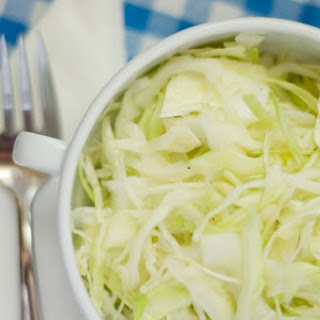 Alex Boake's Super Garlic Cabbage Salad.