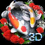 Lively 3D Rose Fish Theme 1.1.4