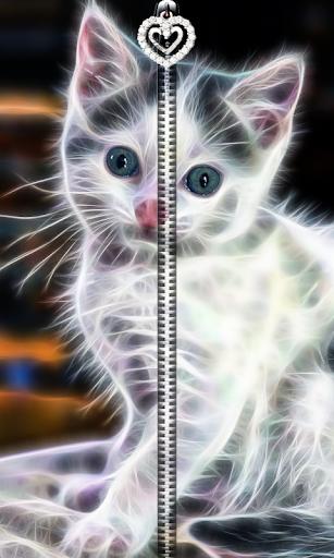 3D Kitty Cat Zipper UnLock