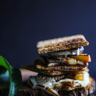 White Chocolate Peach S'mores