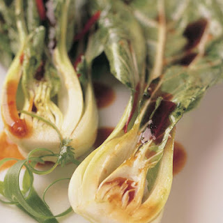 Steamed Bok Choy with Chili Oil