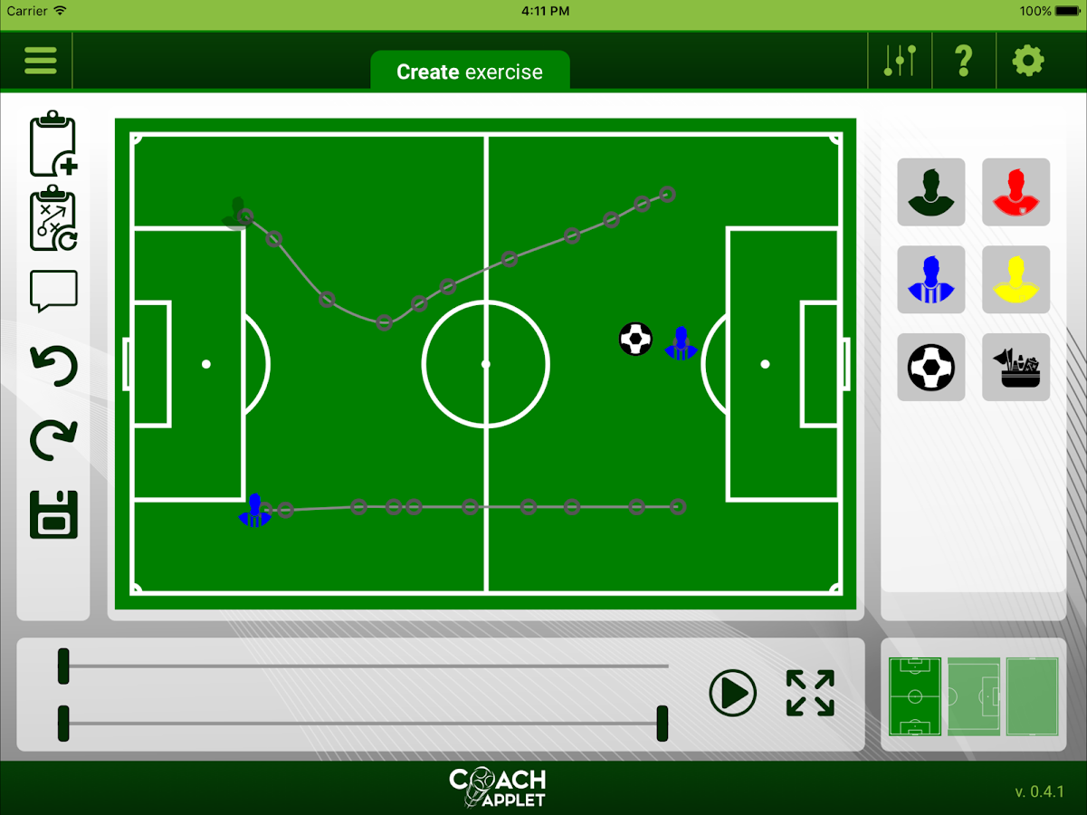 CoachApplet- screenshot