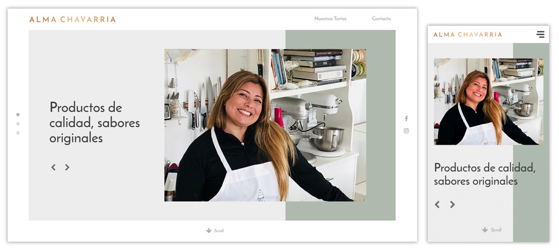 Sitio web Alma Chavarria