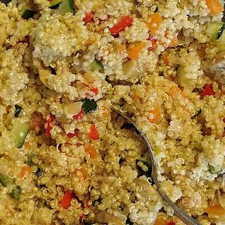 Vegetable Quinoa Salad GF.