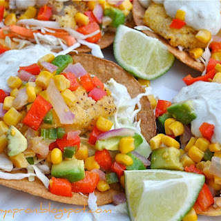 Cod Tostadas with Corn Relish